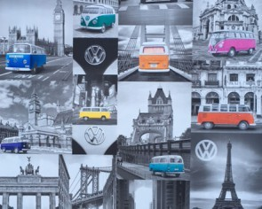 Dutch Wallcoverings Volkswagen Busjes Behang (E95011)