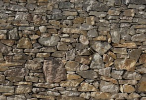 Noordwand Komar Wood & Stones (8NW-727 Stone Wall) - Vlies